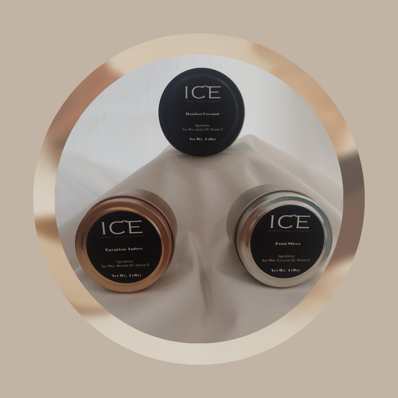 ICE Set of 3 Sampler Candle Alasha Bennett
