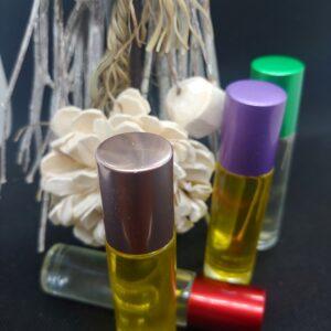ICE 10 ml. 4 pack glass vile fragrance roll on Alasha Bennett